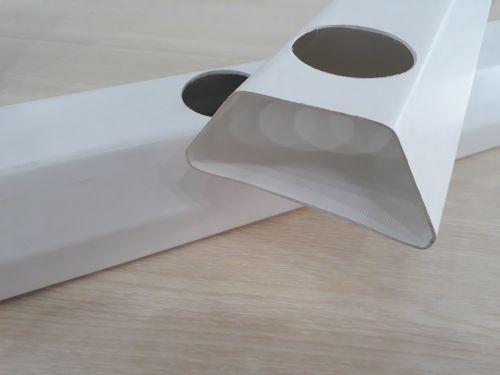 Cấu tạo của máng nhựa (ống nhựa) trồng rrau thủy canh
